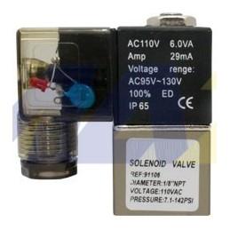 """Valvula 1/8"""" NPT NC 240VAC..."""