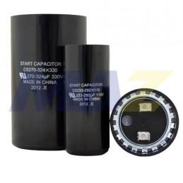 Capacitor de Arranque 270-324 MFD  330 V 2-9/16 PULGADAS x4-3/8