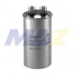 Capacitor de Trabajo 65 MFD 370VAC REDONDO