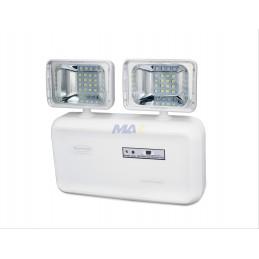 LAMPARA LED DE EMERGENCIA 2 FAROS LATERALES 150M2