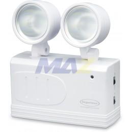 LAMPARA LED DE EMERGENCIA 2 FAROS LATERALES 50M2 D