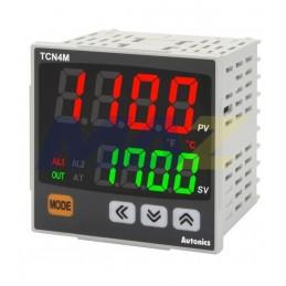 CONTROL TEMPERATURA TCN 72X72MM 24-48VDC 24VAC SALIDA RELE+SSR+2 ALARMAS