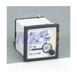 Amperimetro 0-400Amp 48X48mm Indirecto