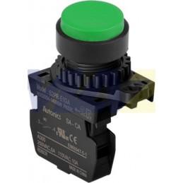 Botón Pulsador Plástico Verde