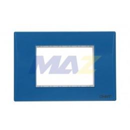 Placa color Azul con base